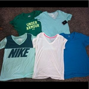 Athletic V neck tops, size women's large/XL.